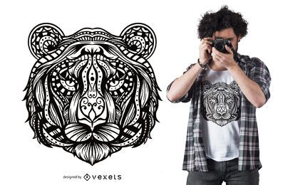 Design de t-shirt Tiger Mandala
