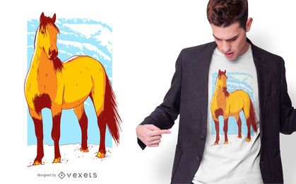 Pferd Illustration T-Shirt Design