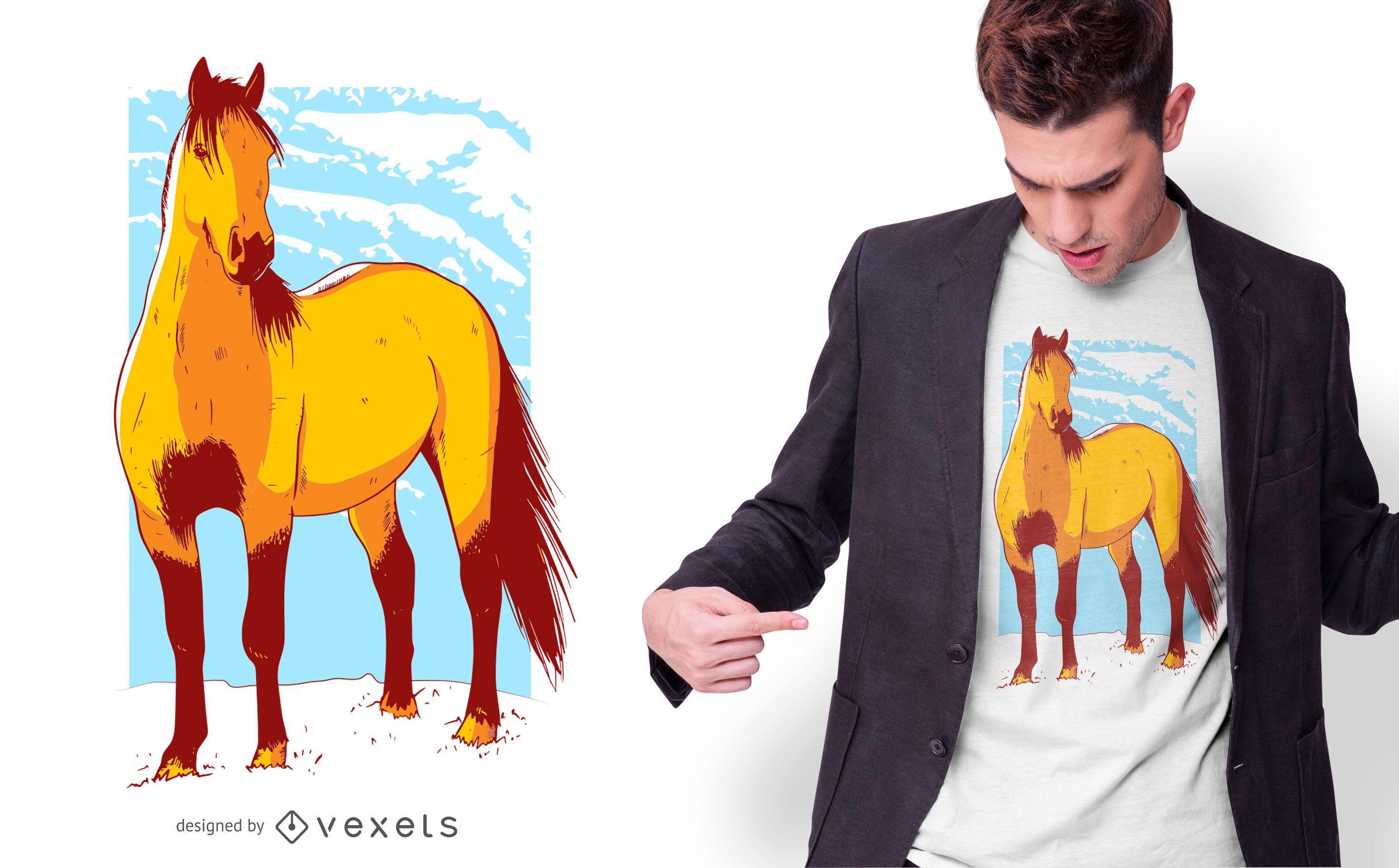 Horse Illustration T-shirt Design