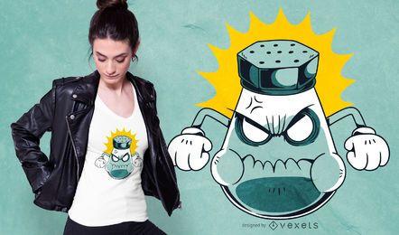 Design de t-shirt irritado de saleiro