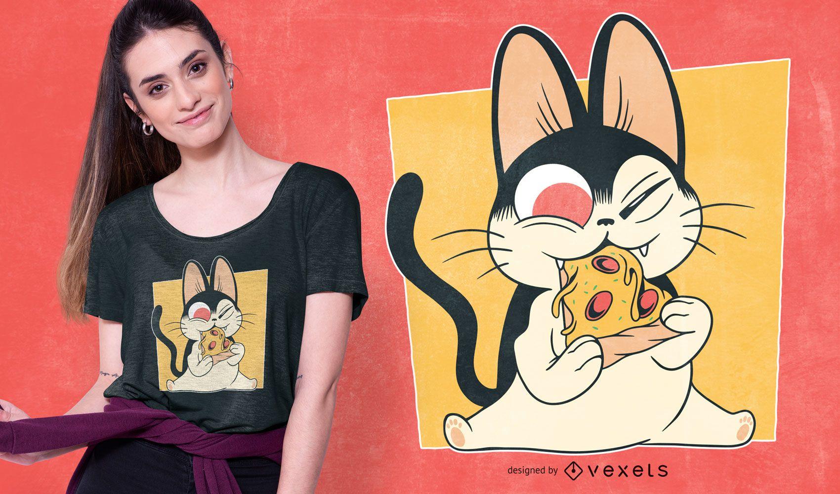 Pizza Kitten T-shirt Design