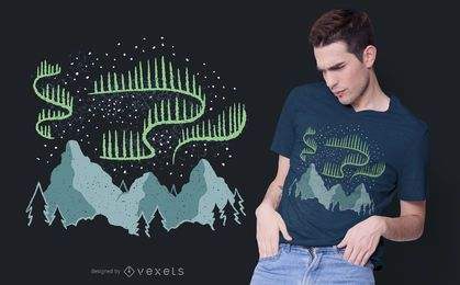 Northern Lights T-shirt Design