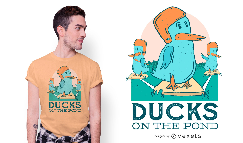 Diseño de camiseta de béisbol de pato
