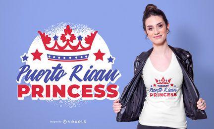 Diseño de camiseta de princesa puertorriqueña