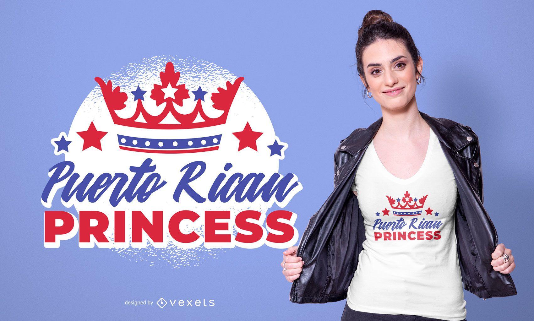 Puerto Rican Princess T-shirt Design