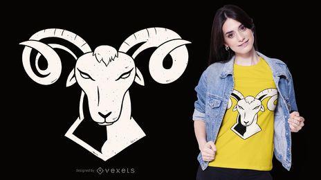 Design de t-shirt de Áries
