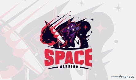 Space Warrior Logo Design