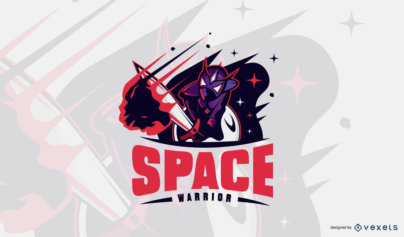Design de logotipo do Space Warrior