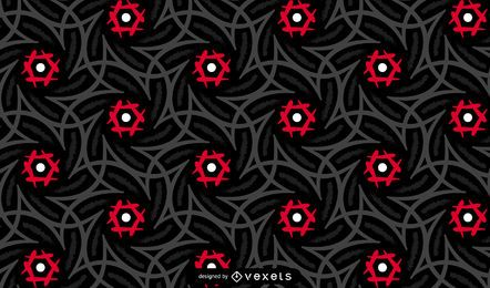 Dark Tribal Pattern Design