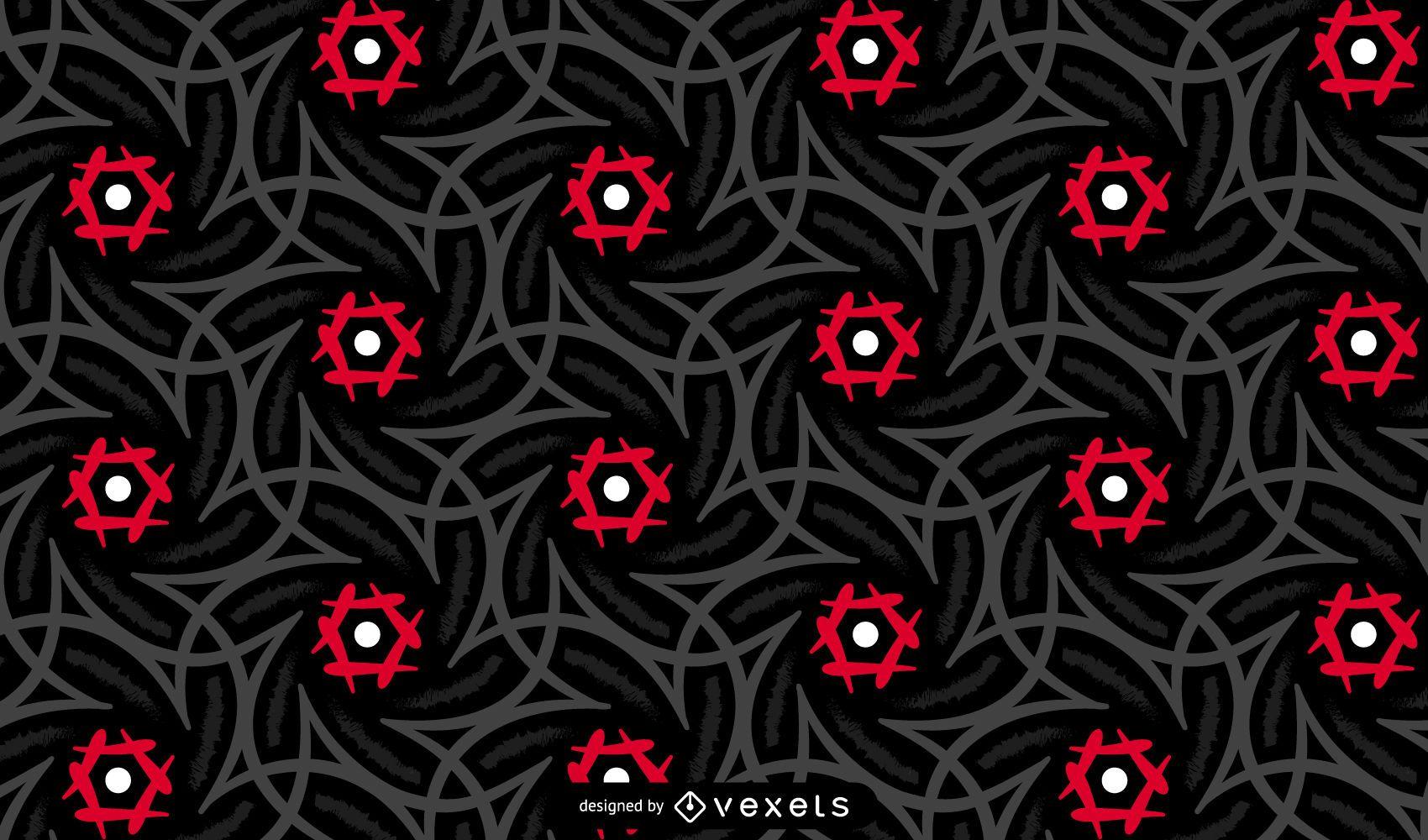 Diseño de patrón tribal oscuro
