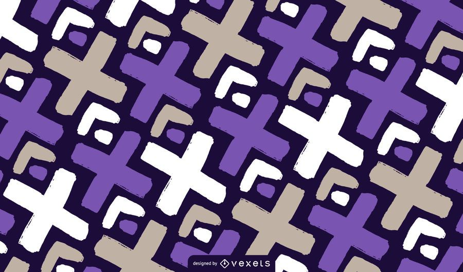 Doodle X Pattern Design