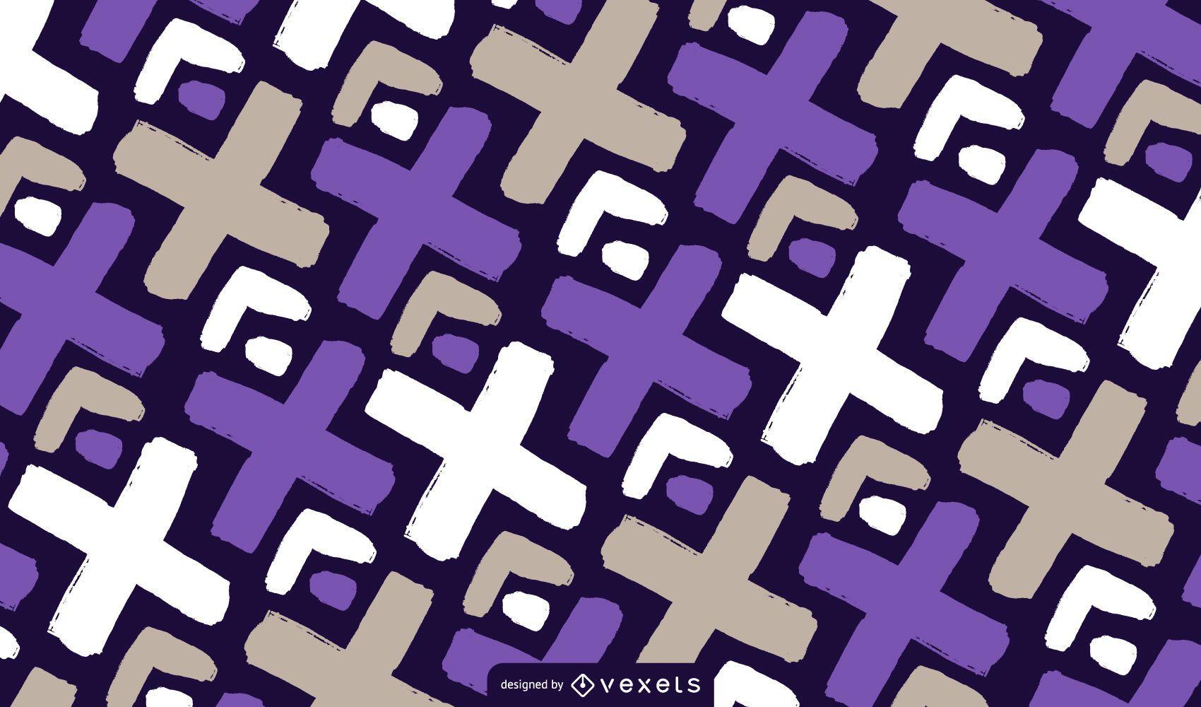 Diseño de patrón Doodle X