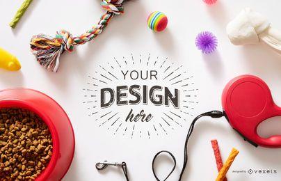 Maqueta de diseño de objetos para mascotas