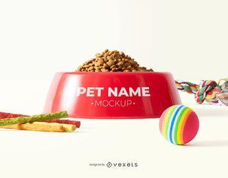 Design de maquete de placa de cachorro