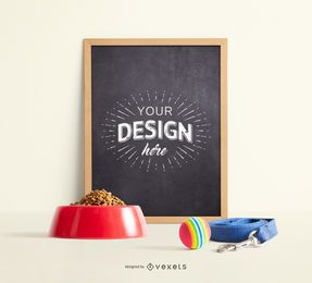 Pet Blackboard Mockup Design