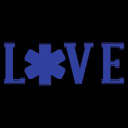 Paramédico insignia en vivo