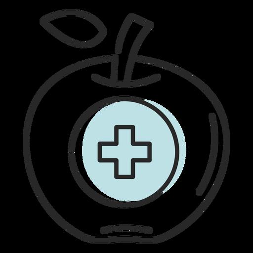 Hospital símbolo de manzana