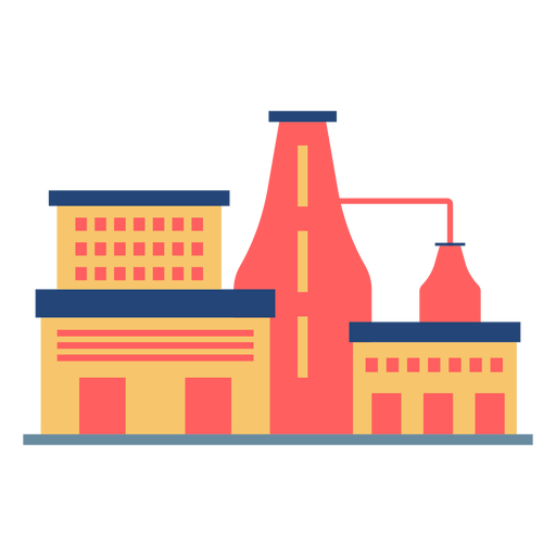 Awesome factory building colored Transparent PNG