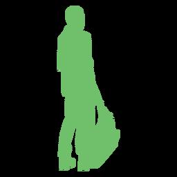 Vista posterior silueta de bolso de hombre