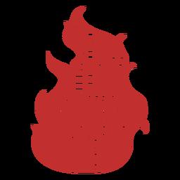 Insignia bombero fuego palabras