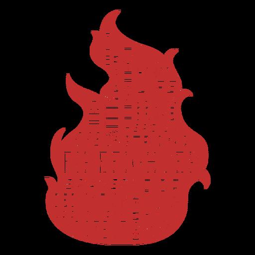 Badge firefighter fire words Transparent PNG