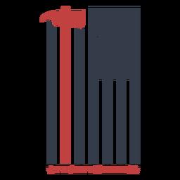 Bandeira de bombeiro distintivo
