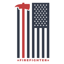 Insignia, bombero, bandera