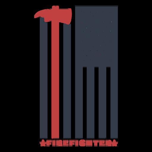 Badge firefighter flag