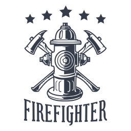 Distintivo de estrelas de bombeiro