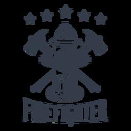 Estrelas de bombeiro de distintivo