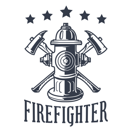 Badge firefighter stars Transparent PNG