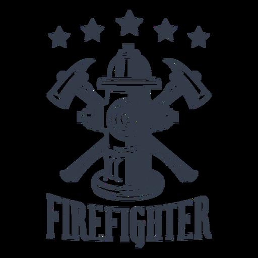 Badge firefighter stars