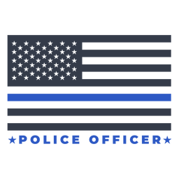 Bandeira da polícia de distintivo