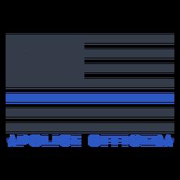 Insignia de la bandera de la policía