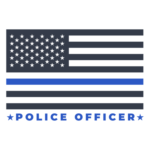 Badge police flag Transparent PNG