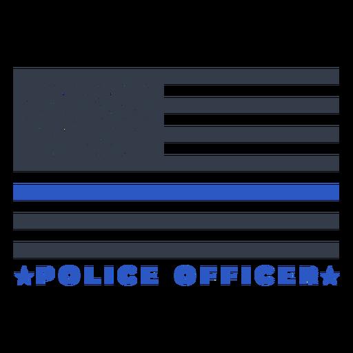 Bandeira da polícia de crachá