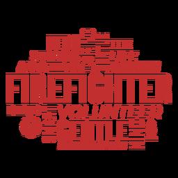 Abzeichen Worte Feuerwehrmann