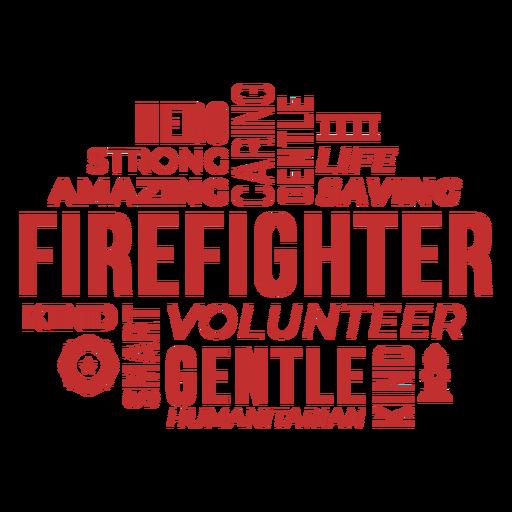 Badge words firefighter