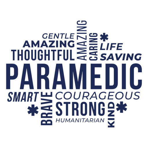 Badge words paramedic Transparent PNG