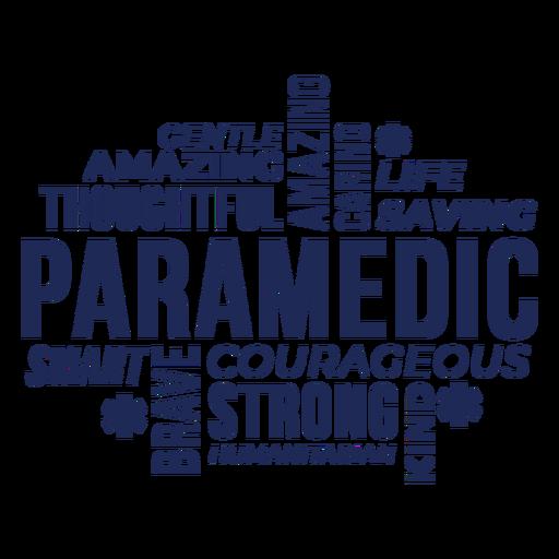 Insignia de palabras paramédico