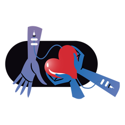 Blood donation heart badge