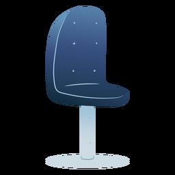 Blauer Stuhl gefärbt