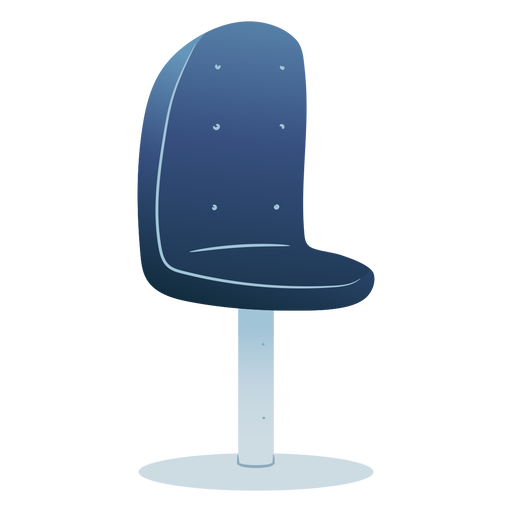 Blue chair colored