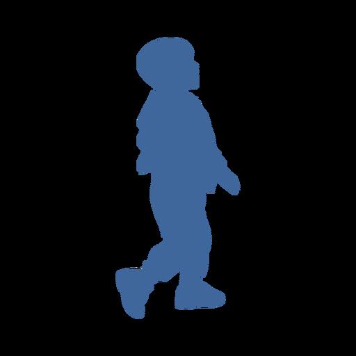 Boy side silhouette
