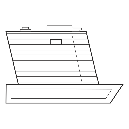 Building ship like drawn Transparent PNG