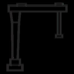 Estructura del edificio dibujada