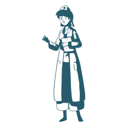 Character holding clipboard doctor