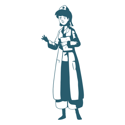 Personaje con médico portapapeles