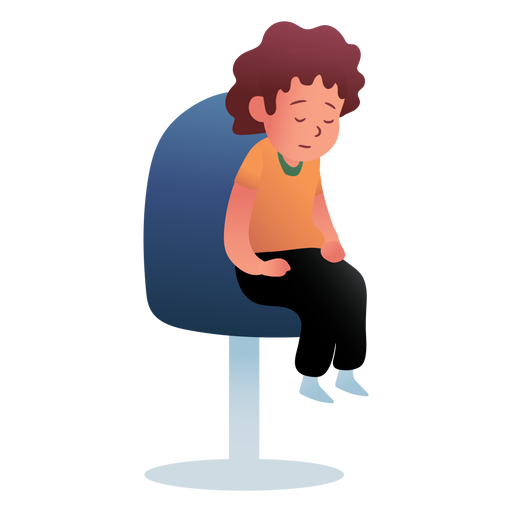 Character sitting sleeping kid Transparent PNG