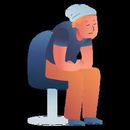 Hombre dormido personaje sentado